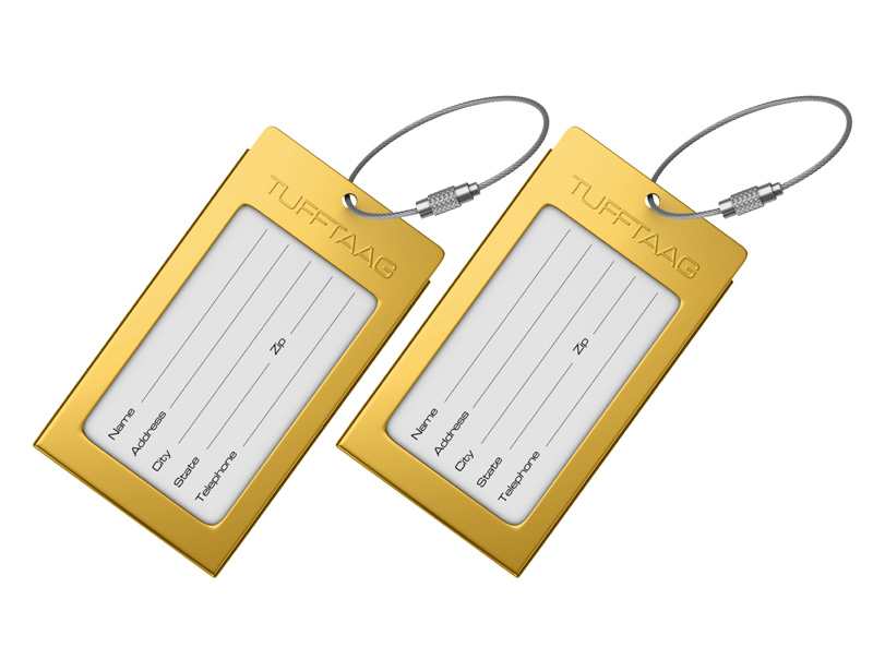 Luggage Tags Business Card Holder TUFFTAAG - Travel ID Tags in Gift ...