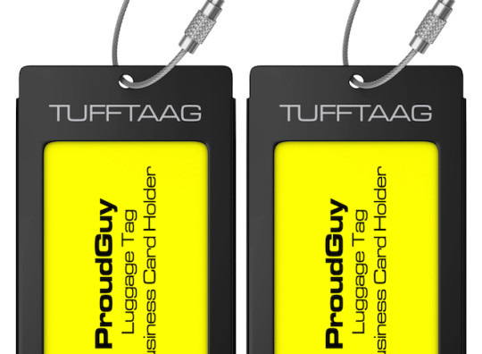 Luggage tags business card holder tufftaag travel id tag in 10 color luggage tags business card holder tufftaag travel id tag in 10 color and 2 size options reheart Image collections
