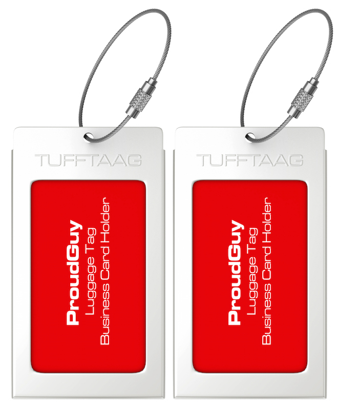 Luggage Tags Business Card Holder TUFFTAAG Travel ID Tag in 10 Color ...