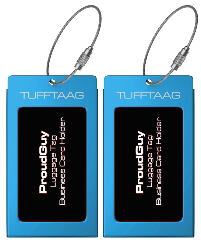 image regarding Medical Equipment Luggage Tag Printable named Baggage Tags Enterprise Card Holder TUFFTAAG Generate Identification Tag within just 10 Shade and 2 Sizing Choices
